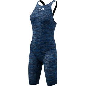 TYR Thresher Baja Open Back Swimsuit Women Blue